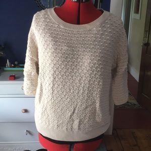 Three-quarter length sleeve sweater